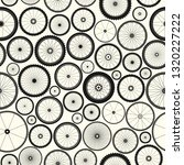 bicycle wheel seamless pattern. ... | Shutterstock .eps vector #1320227222