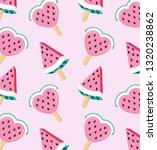 juicy watermelon popsicles in... | Shutterstock .eps vector #1320238862