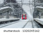 The Red Electric Train In The...