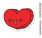 sticker of a cartoon love heart | Shutterstock .eps vector #1320262208