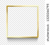 shiny gold frame. golden square ... | Shutterstock .eps vector #1320266795
