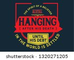 the spirit of a believer is...   Shutterstock .eps vector #1320271205