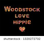 colorful woodstock  love and... | Shutterstock .eps vector #1320272732