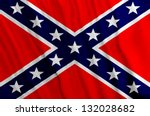 southern flag   battle flag of... | Shutterstock . vector #132028682