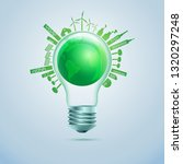 concept of green energy or... | Shutterstock .eps vector #1320297248