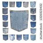 Jeans Pocket.close Up Isolated...