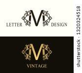 stylish capital letter m.... | Shutterstock .eps vector #1320324518