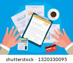 air view business hands working ...   Shutterstock .eps vector #1320330095