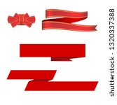 red ribbon  bow and ribbon... | Shutterstock . vector #1320337388