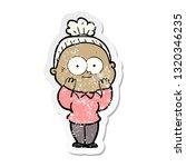 distressed sticker of a cartoon ... | Shutterstock .eps vector #1320346235