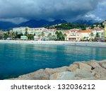 popular resort on french... | Shutterstock . vector #132036212