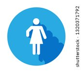 woman silhouette icon with long ...