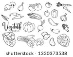 vegetables doodle set isolated... | Shutterstock .eps vector #1320373538