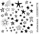 star doodle set | Shutterstock .eps vector #1320385778
