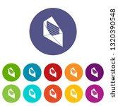 open envelope icons color set...