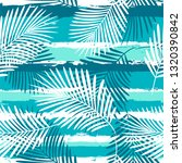 tropical pattern  palm leaves...   Shutterstock .eps vector #1320390842