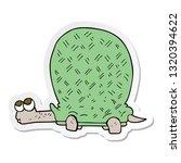 sticker of a cartoon tortoise   Shutterstock .eps vector #1320394622