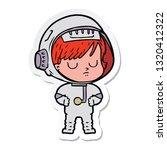 sticker of a cartoon astronaut...   Shutterstock .eps vector #1320412322