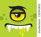 cartoon expression monster | Shutterstock .eps vector #132041852