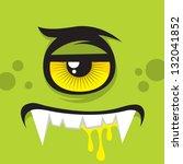 cartoon expression monster | Shutterstock .eps vector #132041852
