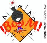 boy bomb vector | Shutterstock .eps vector #132043562