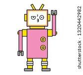 cute cartoon of a robot   Shutterstock .eps vector #1320442982