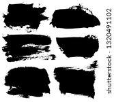 set of black ink hand drawn... | Shutterstock .eps vector #1320491102