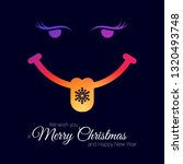 smiling face with snowflake on... | Shutterstock . vector #1320493748