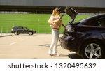 caucasian brunette going... | Shutterstock . vector #1320495632
