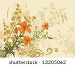 floral background with a bunch... | Shutterstock .eps vector #13205062