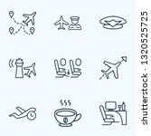 traveling icons line style set... | Shutterstock .eps vector #1320525725