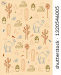 vector desert pattern for... | Shutterstock .eps vector #1320546005