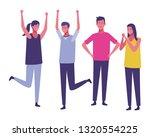 young people cartoon | Shutterstock .eps vector #1320554225