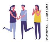young people cartoon | Shutterstock .eps vector #1320554255