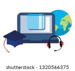 online education school | Shutterstock .eps vector #1320566375