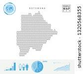 botswana people icon map....   Shutterstock . vector #1320568355