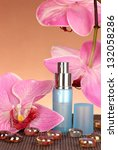 women's perfume in beautiful... | Shutterstock . vector #132058286