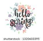 spring theme background design... | Shutterstock .eps vector #1320603395