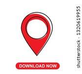 map icon  pin vector | Shutterstock .eps vector #1320619955