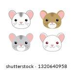 colors set of cute hamsters ...