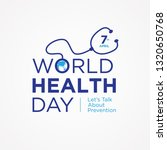 world health day letter quote...   Shutterstock .eps vector #1320650768