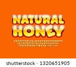 vector glossy orange poster... | Shutterstock .eps vector #1320651905