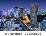 dense buildings in minato ku ...   Shutterstock . vector #132066608