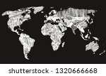 best doodle world map for your... | Shutterstock .eps vector #1320666668