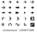 vector arrow icon set | Shutterstock .eps vector #1320671588