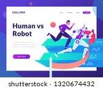 human vs robot  artificial... | Shutterstock .eps vector #1320674432