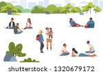 various people at park... | Shutterstock .eps vector #1320679172