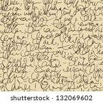 letter endless pattern. script...