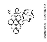 grape vine fruit with leaf line ... | Shutterstock .eps vector #1320702515