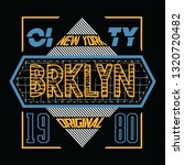 brooklyn typography  t shirt... | Shutterstock .eps vector #1320720482